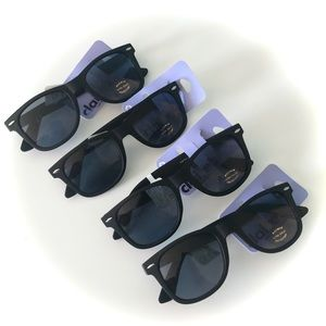 NWT Set of 4 - Claire's Black Sunglasses